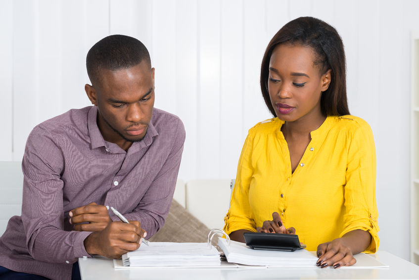 Couple planning financial future